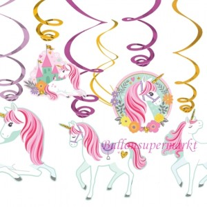 Magical Unicorn Swirl Dekoration zum Kindergeburtstag