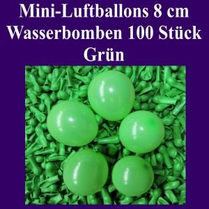 "Mini Luftballons, 8 cm, 3"", Wasserbomben, 100 Stück, Grün"