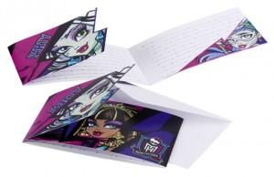 Monster High Einladungskarten zum Kindergeburtstag