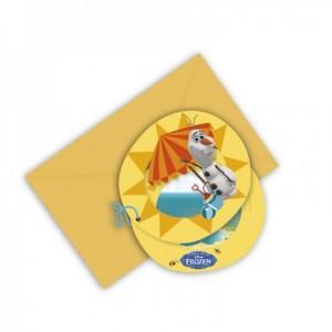 Olaf, Frozen Einladungskarten zum Kindergeburtstag