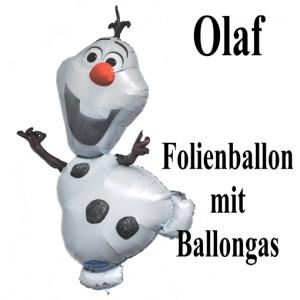 Olaf, großer Luftballon aus Folie mit Ballongas, Olaf-Eiskönigin