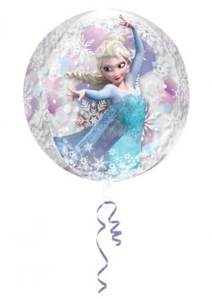 Frozen Orbz, großer Luftballon aus Folie mit Helium