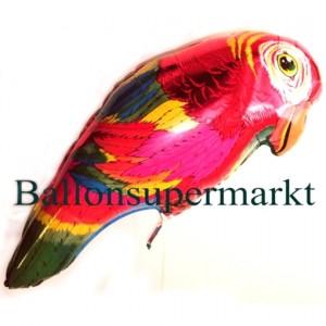 Bunter Papagei Folien-Luftballon, ungefüllt