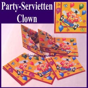 Party-Servietten Clown