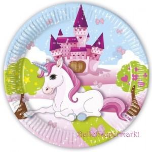 Partyteller Unicorn zum Einhorn Kindergeburtstag