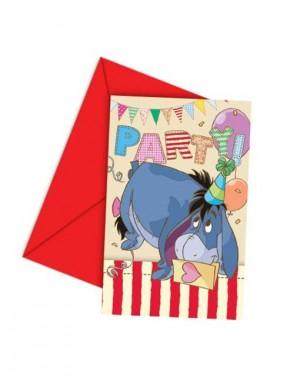 Winnie the Pooh Einladungskarten zum Kindergeburtstag