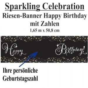 Sparkling Celebration, Happy Birthday Riesenbanner mit Zahlen