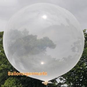 Großer Rund-Luftballon, Transparent, 100 cm