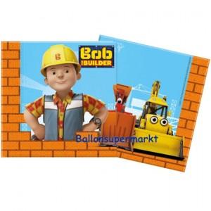 Bob der Baumeister Servietten zum Kindergeburtstag