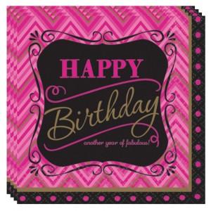 Happy Birthday Servietten, Born to be fabulous, Dekoration Geburtstag