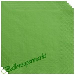 Servietten in Grasgrün, 20 Stück