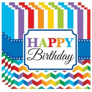 Happy Birthday Servietten, Dekoration Geburtstag