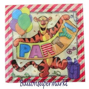 Servietten Kindergeburtstag, Tigger, Winnie Puh, Pooh, Puuh der Bär