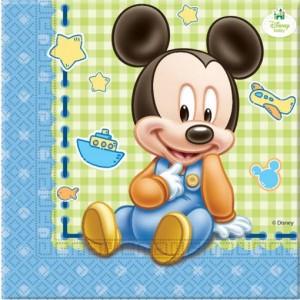 Servietten Baby Micky Maus zum Kindergeburtstag