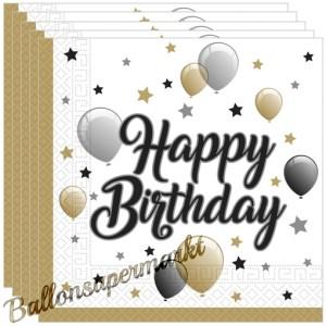 Geburtstagsservietten Happy Birthday Milestone