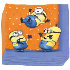 Party-Servietten, Minions, Papierservietten zum Kindergeburtstag