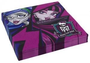 Servietten Monster High zum Kindergeburtstag