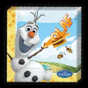 Party-Servietten, Olaff, Frozen, Papierservietten Kindergeburtstag