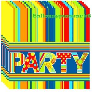Servietten Party, Luftballons, Papierservietten 20 Stück, 3-lagig