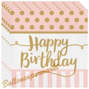 Geburtstagsservietten Pink Chic Happy Birthday