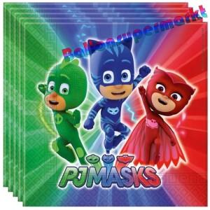 Party-Servietten PJ Masks zum Kindergeburtstag