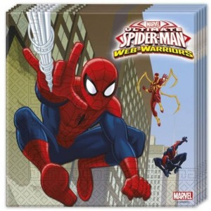 Party-Servietten Spider-Man Web Warriors zum Kindergeburtstag