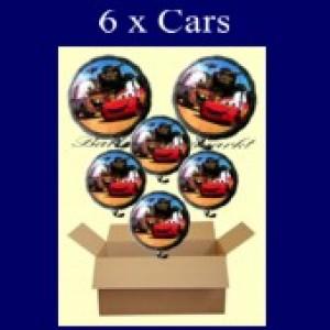 Cars Luftballons mit Helium, Kindergeburtstag Geschenke, 6 Stück