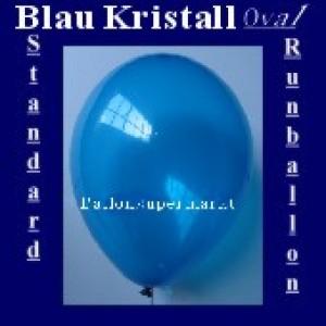 Luftballons Standard R-O 27 cm Blau-Kristall 10 Stück