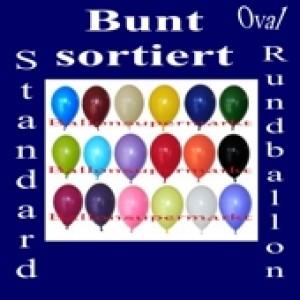 Luftballons Standard R-O 27 cm Bunt sortiert 100 Stück
