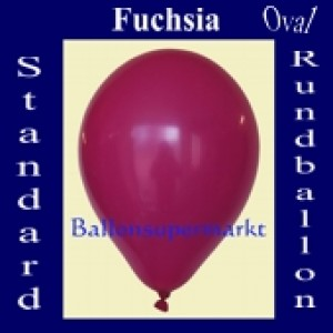 Luftballons Standard R-O 27 cm Fuchsia 100 Stück