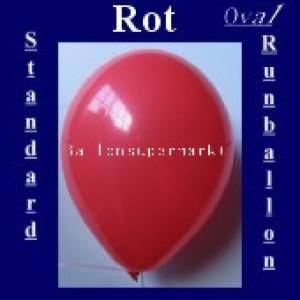 Luftballons Standard R-O 27 cm Rot 100 Stück
