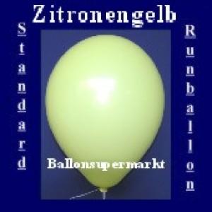 Luftballons Standard R-O 27 cm Zitronengelb 100 Stück