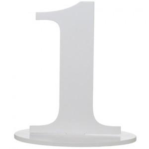 Tischaufsteller Zahl 1