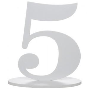 Tischaufsteller Zahl 5