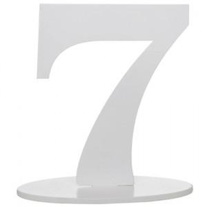 Tischaufsteller Zahl 7