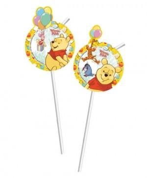 Winnie the Pooh Trinkhalme zum Kindergeburtstag