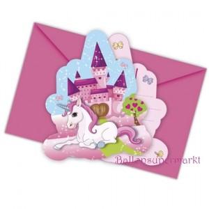 Unicorn Einladungskarten zum Einhorn Kindergeburtstag