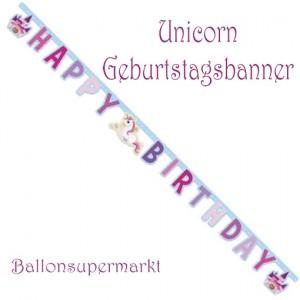 Kindergeburtstagsbanner Unicorn