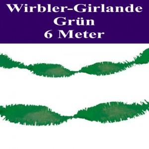 Wirbler Girlande, Papiergirlande, Drehgirlande, Grün, 6 Meter