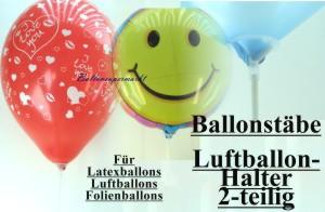Luftballonhalter, Luftballonstab, Ballonstab, für Luftballons, Stäbe für Luftballons, Folienballons und Herzballons, Figurenballons