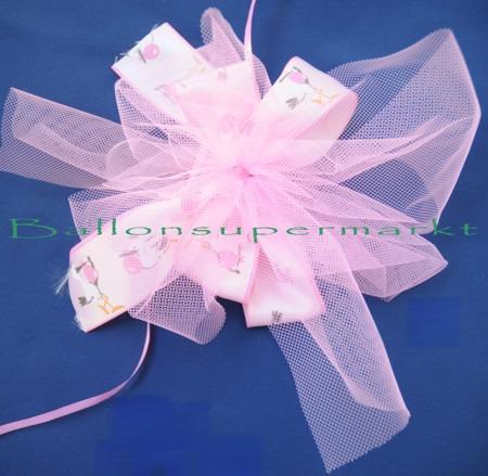Deko-Schleife-Geburt-Taufe-Rosa-Schleifendekoration