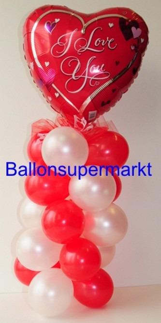 Dekoration aus Ballons zu Liebe und Valentinstag