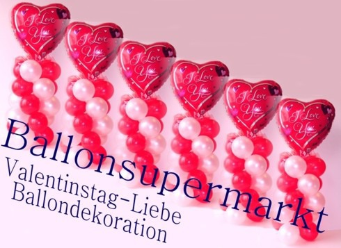 Liebe-Valentinstag-Dekoration-aus-Ballons-2