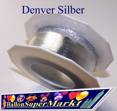 Deko-Zierband-Schmuckband-Denver-Silber-Rolle