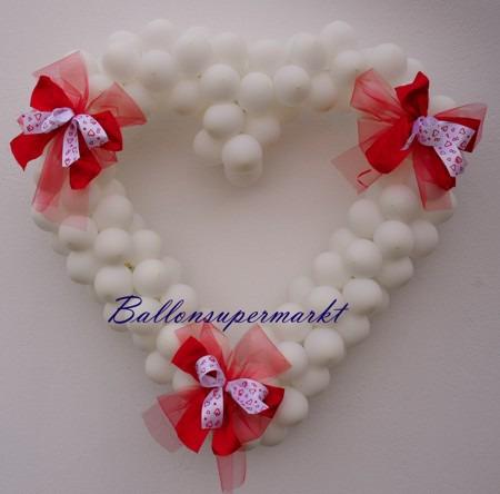Hochzeitsauto-Dekoration-Luftballons-Weiss