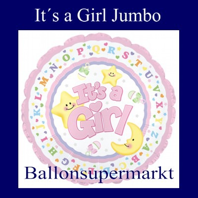 It-is-a-Girl-Luftballon-aus-Folie-zu-Geburt-Taufe-Maedchen