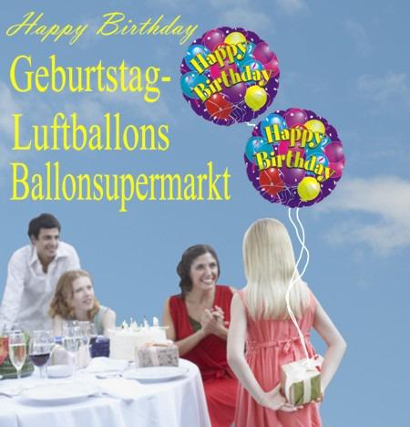 Geburtstag-Luftballons