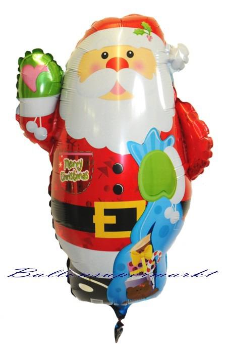 Grosser-Weihnachtsballon-Nikolaus-Weihnachtsmann
