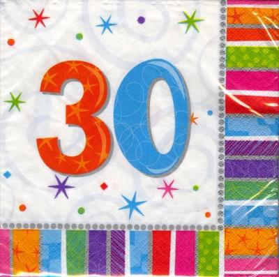 ballonsupermarkt geburtstag 30 deko servietten radiant birthday geburtstag. Black Bedroom Furniture Sets. Home Design Ideas