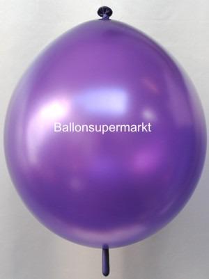Girlandenballon-Kettenballon-Lila-Metallic